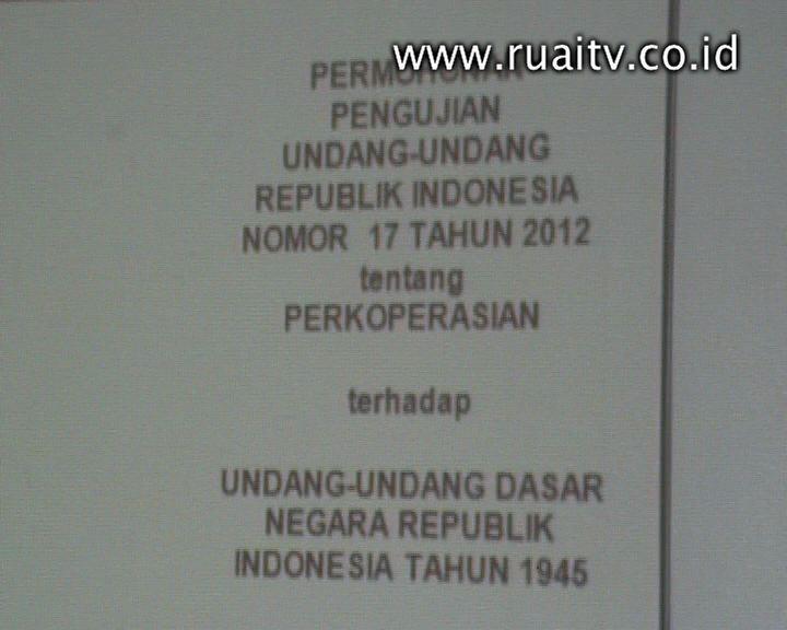 7 Credit Union Gugat UU Perkoperasian - Ruai TV
